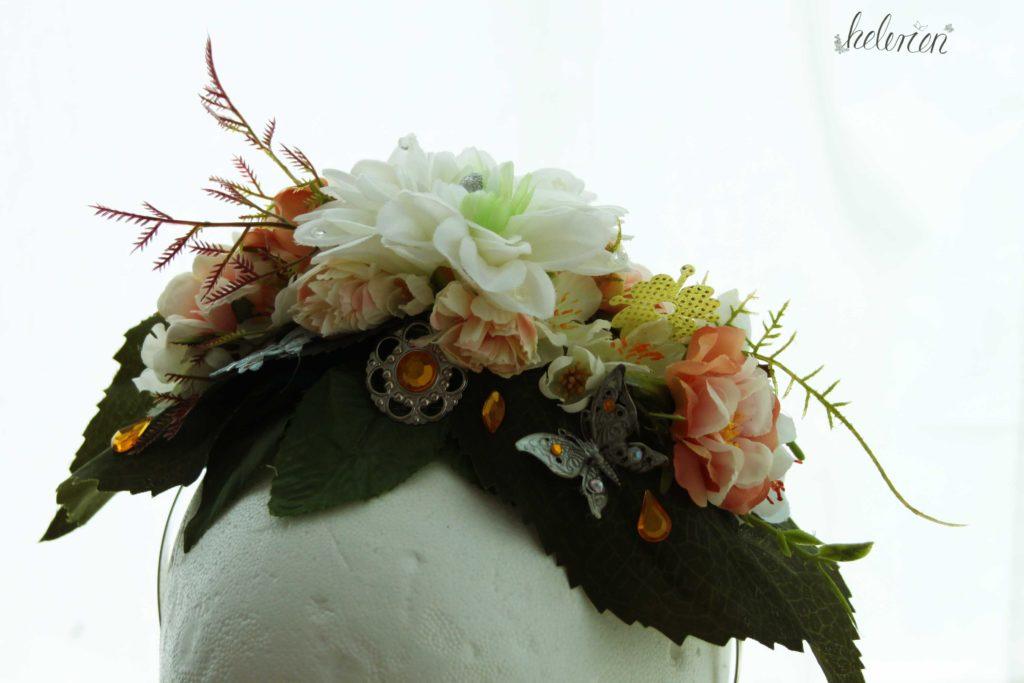 Blumen Headpiece im Gegenlicht