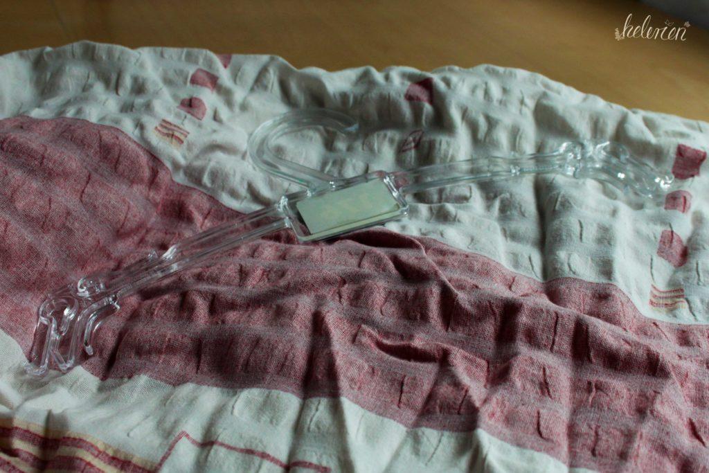 Material für den Klammerbeutel, Stoff und Bügel