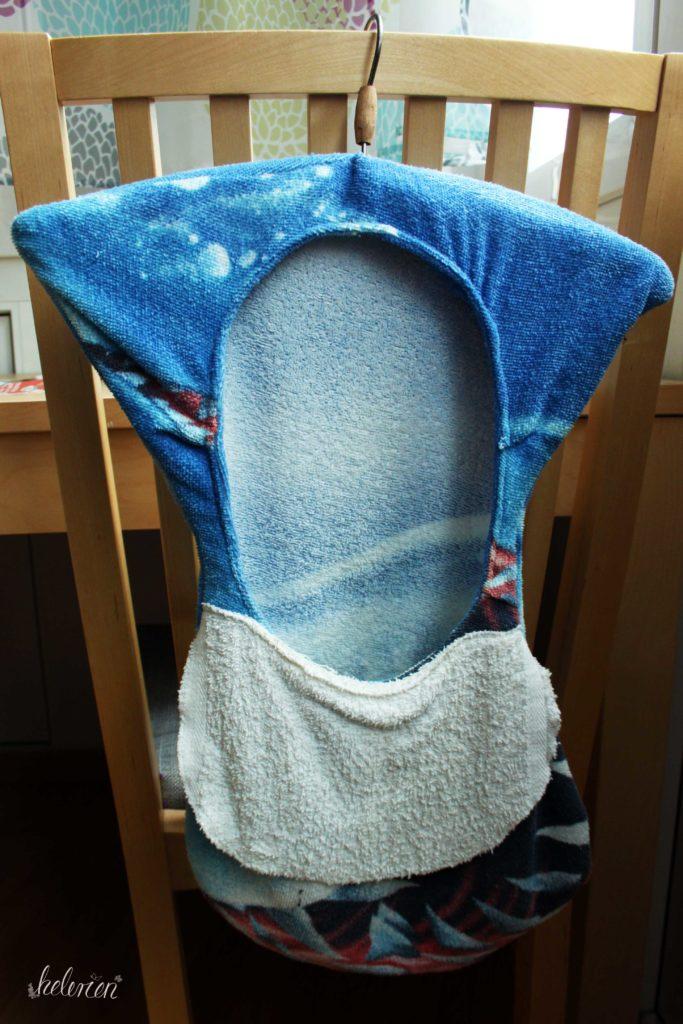 Klammerbeutel aus einem Handtuch