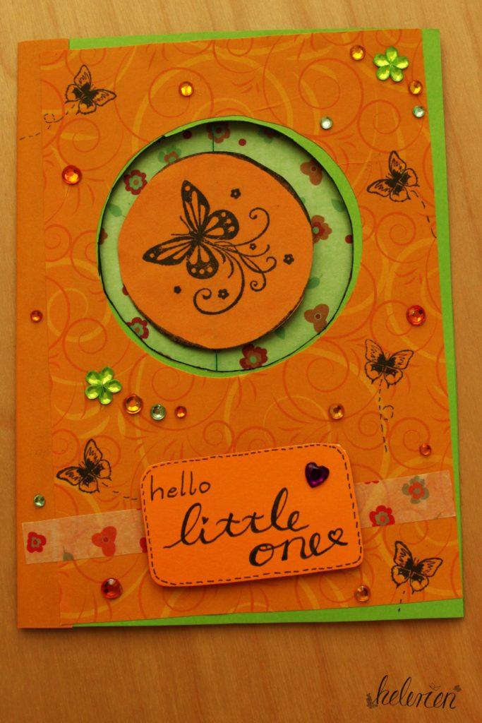 Babykarte Spinner Karte Schmetterling