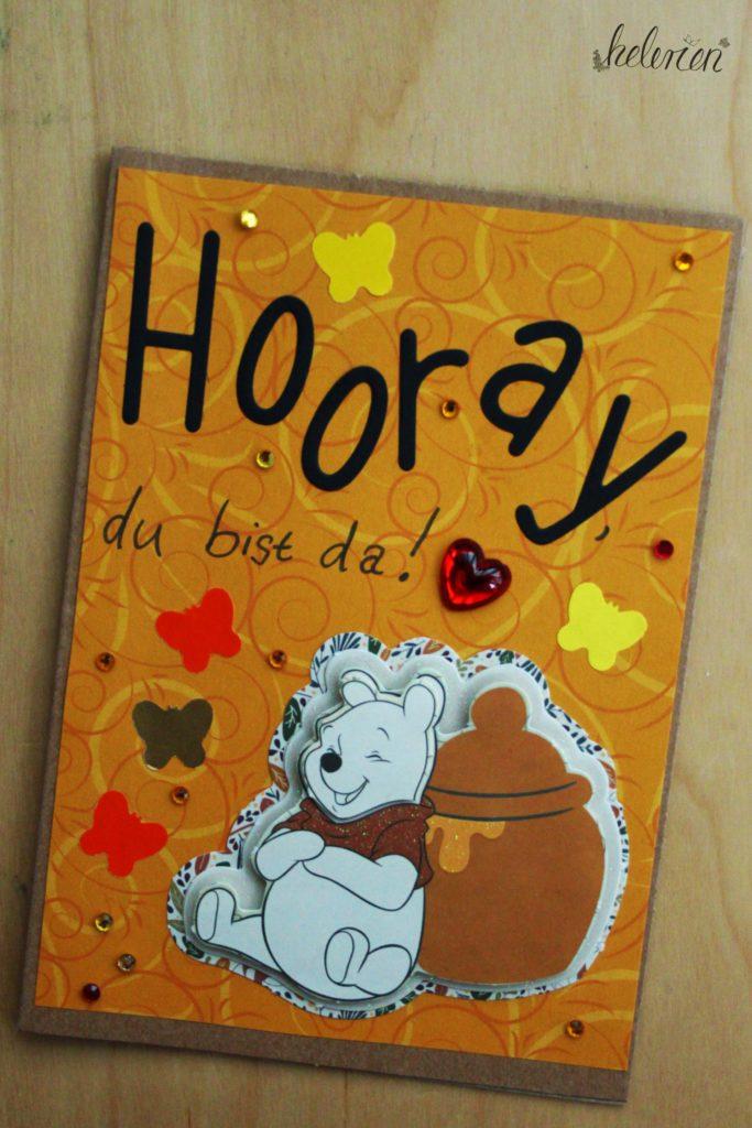 Winnie Pooh Babykarte