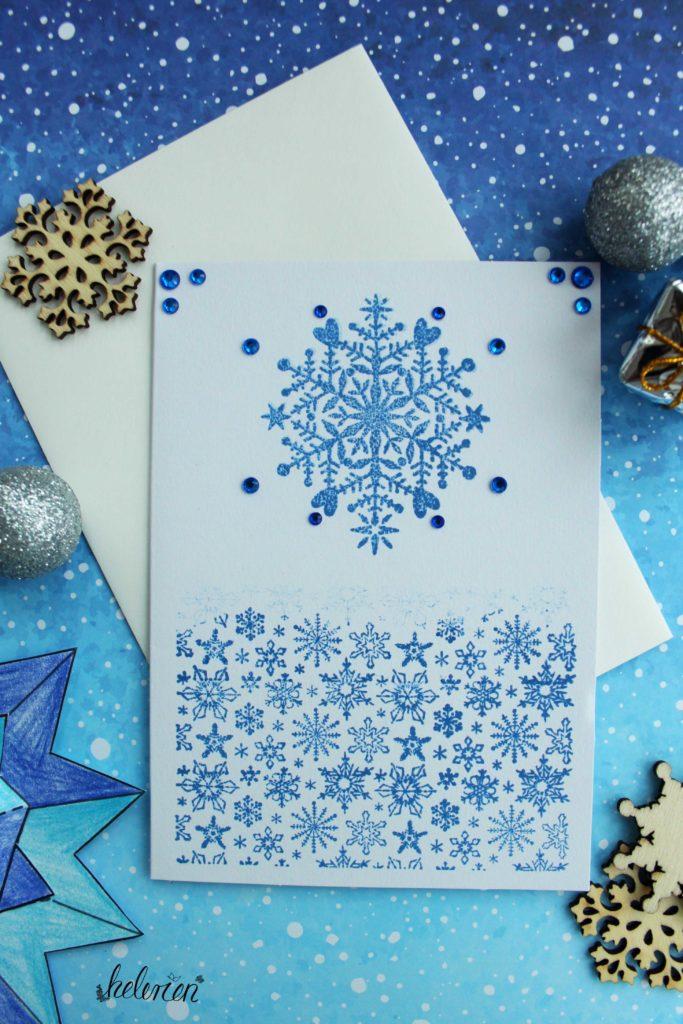 Schneeflockenkarte