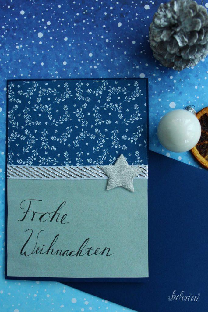 silber blaue Karte mit Stern