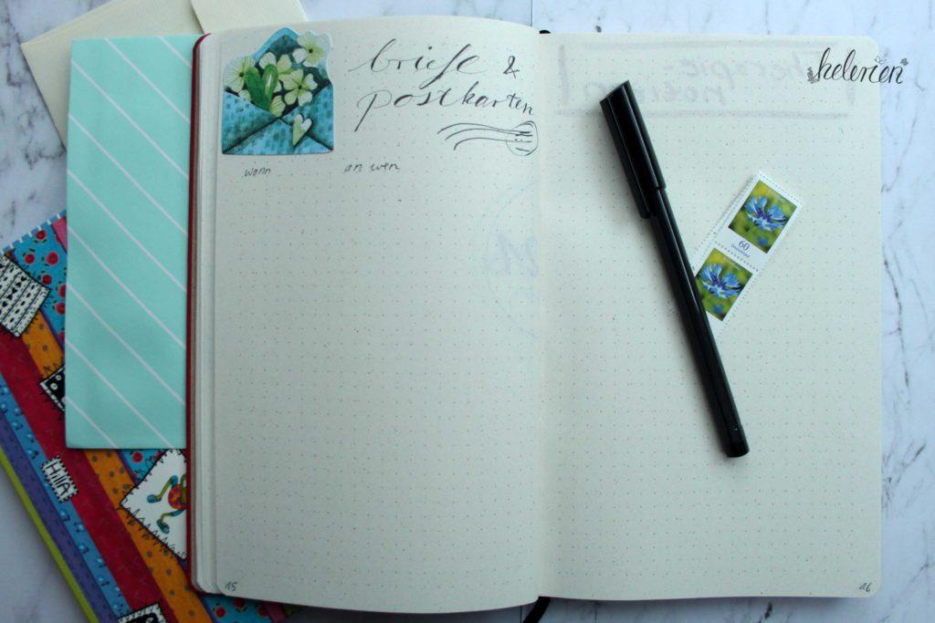 Briefe und Postkarten Liste
