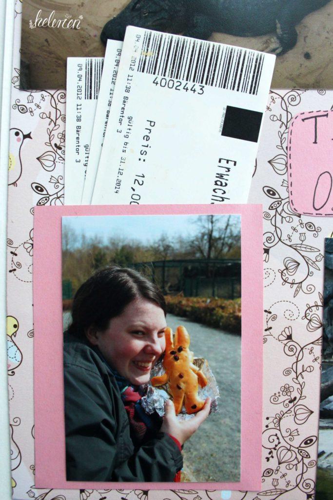 kleine Tasche für Tickets