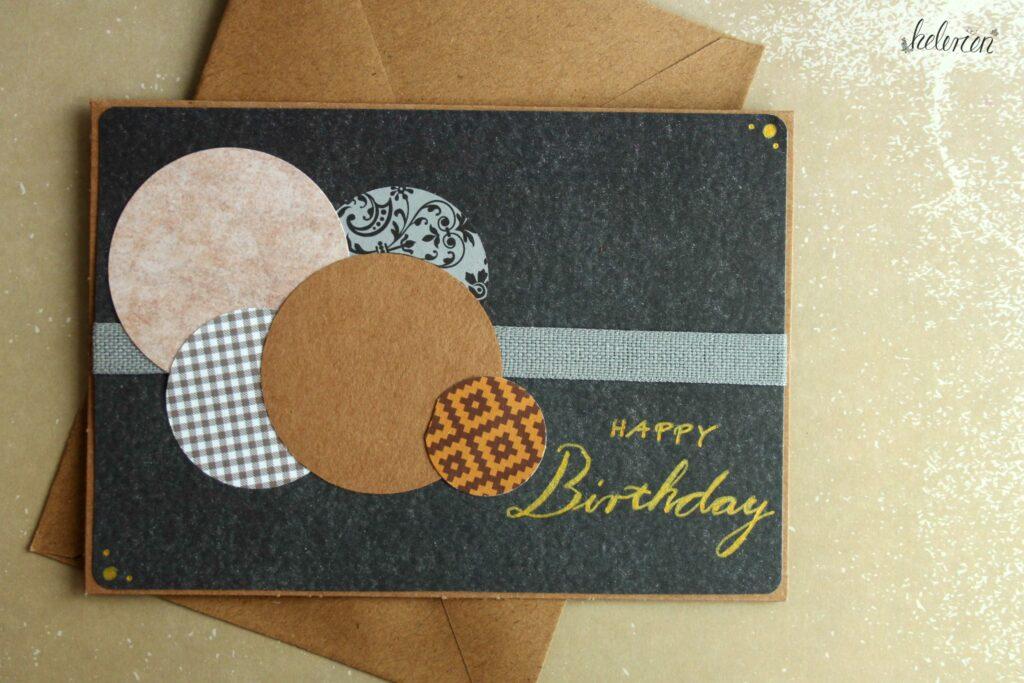 Geburtstagskarte mit Kreisen